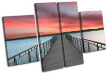 Lake Jetty Pier Sunset Seascape - 13-1537(00B)-MP17-LO